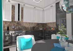 Kuchnia w mieszkaniu w Szczecinie, Podjuchy, 2018 – REMA DESIGN Design