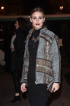 Olivia Palermo arrives at the H&M show as part of the Paris Fashion Week Womenswear Fall/Winter 2016/2017 on March 2, 2016 in Paris, France  #OliviaPalermo #PFW #FW16