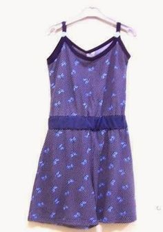 Recycling dress to romper