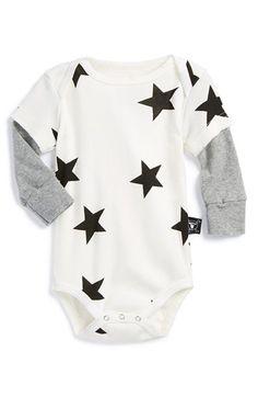 Infant Boy's NUNUNU 'Stars' Bodysuit
