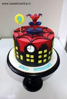 Super Ideas For Birthday Cake Ideas For Boys Batman – Cake 2020 Cartoon Birthday Cake, Spiderman Birthday Cake, Spiderman Theme, Birthday Cakes For Women, Superhero Cake, Cool Birthday Cakes, Cakes For Boys, Boy Birthday, Spiderman Cake Topper