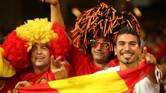 Spain fans inside the Olympic Stadium after their UEFA EURO 2012 final against Italy  ©Sportsfile