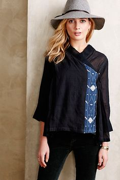 Akumi Wrap Blouse #anthropologie