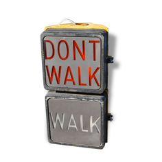 Dont Walk New-York - Métal - Jaune - Bon état - Industriel - 81239