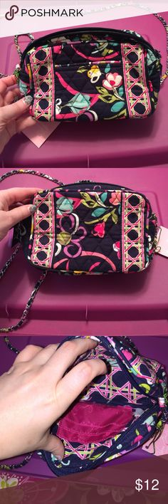 Vera Bradley mini chain bag ribbons Outside one slip pocket. Main compartment zip closure. Inside 3 credit card slots. Vera Bradley Bags Crossbody Bags