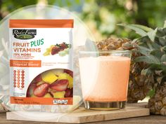 Missing the tropics? No worries, the Rader Farms Fruit PLUS Vitamins Tropical Blend will satisfy your cravings!