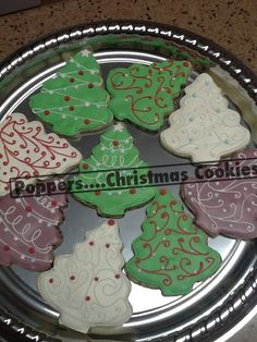 Decorated Cookies - upper left is my favorite