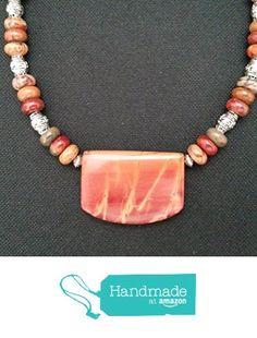 Fiery Red Creek Jasper Shield with Bold Bali Beads from Red Creek Spirit Jewelry http://www.amazon.com/dp/B015QOD24K/ref=hnd_sw_r_pi_dp_KuBgwb1CWZJ3W #handmadeatamazon