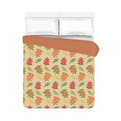 "Fall Foliage Duvet Cover 86""x70"" ( All-over-print)"