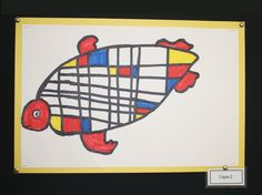 1st grade students at Meeting Street Academy in Charleston, SC use colored markers to create #Mondrain inspired Sea Turtles.  MSA founder Ben Navarro champions educational opportunities for under-resourced families.  Elementary Art education is a key component of his vision. #MeetingStreetAcademy #Art #Education #SCSchools #BenNavarro #ShermanFinancialGroup