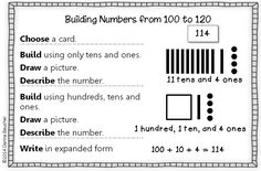Math Coach's Corner: Exploring Numbers to 120--Concrete, Representational, and Abstract. Students should have concrete experience decomposing numbers larger than one hundred in different ways. This free math workstation takes students through the CRA stages of learning.