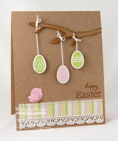 Happy Easter Cards and Paper Crafts at Splitcoaststampers Diy Easter Cards, Easter Crafts, Diy Cards, Tarjetas Diy, Card Making Inspiration, Creative Cards, Scrapbook Cards, Homemade Cards, Happy Easter