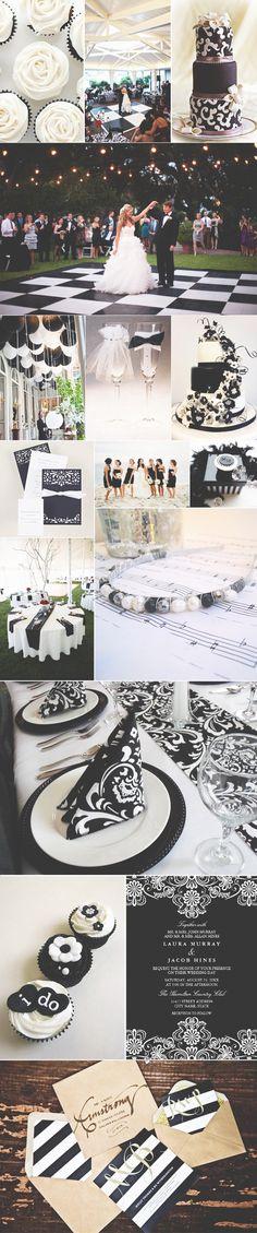 Decoração em preto e branco ♥