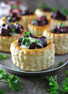 Easy Goat Cheese Beetroot Puff Pastry Stacks