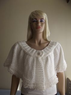 This item is unavailable Knitted Capelet, Barbie Dolls, Hand Knitting, Ship, Button, Trending Outfits, Crochet, Shopping, Color
