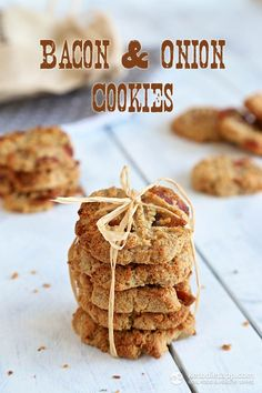 Bacon & Onion Cookies! You can find the recipe here:  http://peaceloveandlowcarb.com/2014/09/lowcarbbacononioncookies.html