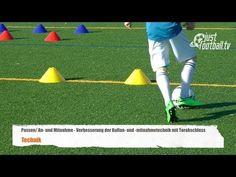 Fussballtraining: Ballan- und Mitnahmetechnik mit Torschuss - Ballkontrolle - Technik - YouTube Soccer Shooting Drills, Football Drills, Youth Soccer, Soccer Training, Best Player, Lionel Messi, Sports, Football Stuff, Youtube