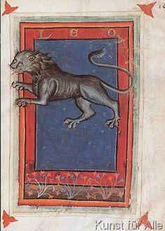 italienisch Buchmalerei - Tierkreis, Löwe / aus Zothorus