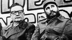 Slavador Allende and Fidel Castro.
