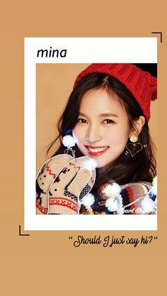 Myoui Mina || Mina Twice || Heart Shaker Lockscreen || Twice Wallpaper || Merry and Happy || Kpop Lockscreen
