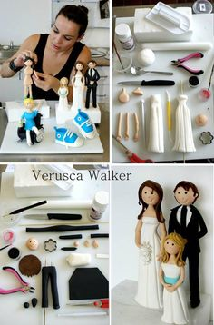 FREE TUTORIAL: Bride and Groom toppers from Verusca Walker