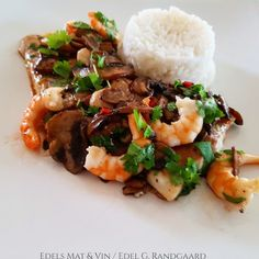 Edels Mat & Vin: Fisk Risotto, Rice, Ethnic Recipes, Food, Meals, Yemek, Jim Rice, Eten, Brass