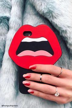 A soft-shell phone case for the iPhone 6® and iPhone 6S® featuring a lips design.