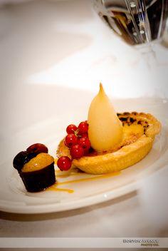 a scrumptious dessert at the Rosewater Room Rose Water, Panna Cotta, Boston, Ethnic Recipes, Desserts, Room, Tailgate Desserts, Bedroom, Dulce De Leche
