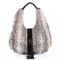 Tasche von DESIREE LAI: Woody Python Bag Nature Grey — Fashionette.de