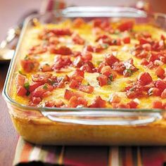 Cheesy Chili Casserole from Taste of Home -- shared by Phyllis Bidwell of Las Vegas, Nevada    http://pinterest.com/taste_of_home/