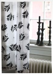 """Krokus"" organic cotton curtains by Gudrun Sjoden. (I like them in ""Light Ecru"".) When the light filters through the airy ""Krokus"" voile curtains, the room seems almost to shimmer. Natty ties make them easy to hang and create a charming expression. Sizes: 41¼ x 59"". Item number 39300. Price $ 45"