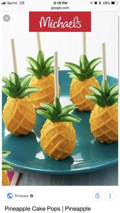 Make this pineapple cake pops project for a summer themed birthday party, it is an easy DIY baking craft. Make this pineapple cake pops project for a summer themed birthday party, it is an easy DIY baking craft. Mini Cakes, Cupcake Cakes, Pineapple Cake, Salty Cake, Flamingo Party, Cakepops, Partys, Velvet Cake, Savoury Cake