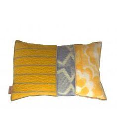 kussen met hoes van wollen dekens 40-60 cm