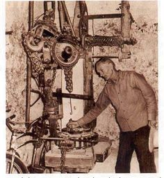 Ed Leedskalnin's Magnetic Flywheel Aparatus EDWARD LEEDSKALNIN GOT HIS CODE AS HAVE I FROM THE BIBLE WHICH HE CALLED A BOOK IN EVERY HOME AND THE PYRAMIDS. HAVE PEOPLE WORSHIPPED AND IGNORED THE DEEPER CODE TO THEIR DETRIMENT?