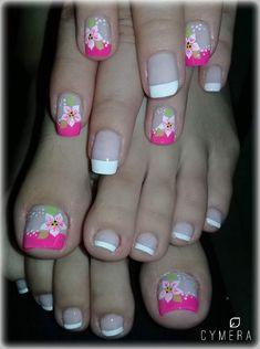 Shellac Pedicure, Pedicure Colors, Nail Colors, White Pedicure, Creative Nail Designs, Toe Nail Designs, Pedicure Designs, Toe Nail Art, Toe Nails