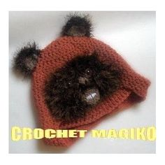 Gorro Tejido A Crochet  Personajes Star Wars Ewok