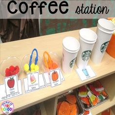 Pumpkin Patch Dramatic Play (coffee stand to fine motor & math fun): How to set it up in your preschool, pre-k, tk, and kindergarten classroom Dramatic Play Themes, Dramatic Play Area, Dramatic Play Centers, Fall Preschool, Preschool Classroom, Preschool Activities, Classroom Decor, Preschool Lessons, Play Based Learning