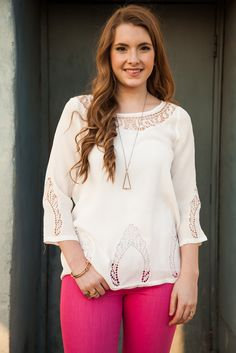 Pink Tulip Boutique - Crazy in Love Blouse, $35.00 (http://www.pinktulipboutique.com/crazy-in-love-blouse/)