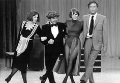 The Carol Burnett Show on CBS starred (from left) Vicki Lawrence, Tim Conway, Burnett and Harvey Korman. The series won an astounding 25 Emmy awards over its 11-year run from 1967 to 1978.