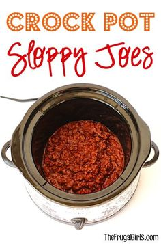 On the hunt for another crave-worthy 5-ingredient dinner recipe? Crock Pot Sloppy Joes are the perfect mouth-watering meal for a chilly Fall evening!!