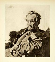 1921 Rotogravure William Orpen Art WWI Portrait RD De Maratray French XAHA8