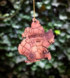Brooklyn Wood Holiday Ornament - Who wouldn't want this on their Christmas Tree?