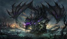 Black Dragon – fantasy concept by Sandara Tang
