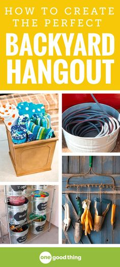 With the weather warming up, we'll soon all be spending more time outside. These clever backyard organization ideas will help make the most out of your outdoor space so you can enjoy it like never before!