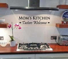 Mom's kitchen - Wall Decal -  removable vinyl. $12.50, via Etsy.