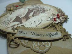 Anita 's Warme Groetjes: Stampendous in kerstsferen  Stampendous Snowy Postcard