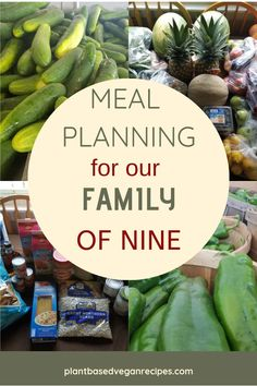 vegan meal planning for a large family - May 11 2019 at Budget Family Meals, Large Family Meals, Family Meal Planning, Cooking On A Budget, Meals For Two, Family Family, Family Recipes, Vegan Meal Plans, Vegan Meal Prep