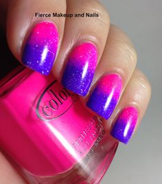 Fierce Makeup and Nails: Neon Gradient