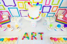 Rainbow Art Birthday