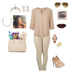 """""""1•27•16"""" by tsvnamimami ❤ liked on Polyvore featuring Topshop, Jessica Simpson, Vero Moda, Furla, Ray-Ban, Bellezza, Anastasia Beverly Hills, Michael Kors, Samira 13 and Vince Camuto"""